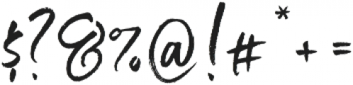 Just Heavenly Extra Glyphs otf (400) Font OTHER CHARS