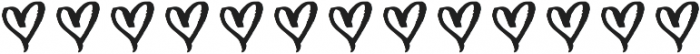 Just Heavenly Extra Glyphs otf (400) Font UPPERCASE