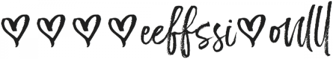 Just Heavenly Extra Glyphs otf (400) Font LOWERCASE
