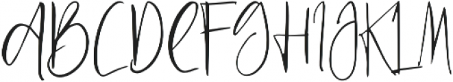 Just Jessy Regular otf (400) Font UPPERCASE
