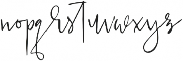 Just Jessy Regular otf (400) Font LOWERCASE