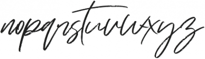 Just Kelly Justine otf (400) Font LOWERCASE