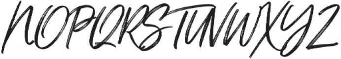 Just Lovely Slanted otf (400) Font UPPERCASE
