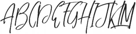 Just Mother alt otf (400) Font UPPERCASE