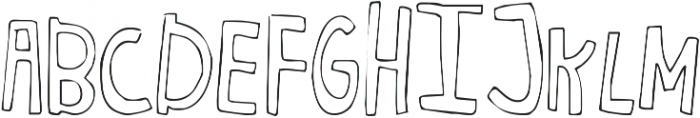 Just Realize ttf (400) Font UPPERCASE