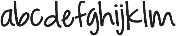 Just Realize ttf (700) Font LOWERCASE