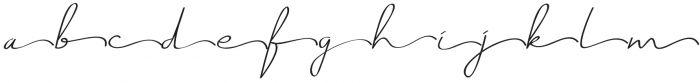 Just Signature Alternate otf (400) Font LOWERCASE