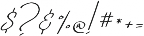 Just Signature Regular otf (400) Font OTHER CHARS