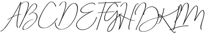 Just Signature Regular otf (400) Font UPPERCASE