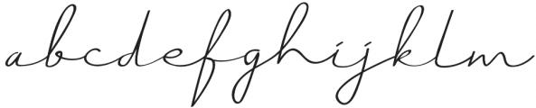 Just Signature Regular otf (400) Font LOWERCASE