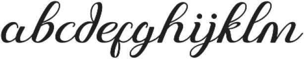 Just Sweet Regular otf (400) Font LOWERCASE