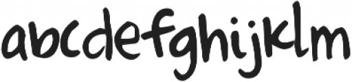 Just The Way You Are ttf (400) Font LOWERCASE
