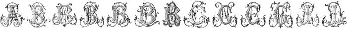 Just a Few Monograms ttf (400) Font UPPERCASE