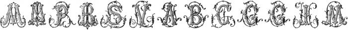 Just a Few Monograms ttf (400) Font LOWERCASE