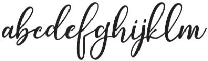 JustBeauty ttf (400) Font LOWERCASE