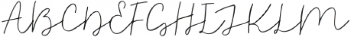 Justatouch otf (400) Font UPPERCASE