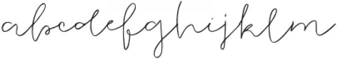 Justatouch otf (400) Font LOWERCASE