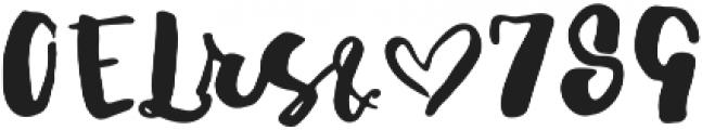 JustinRoadAlt1 otf (400) Font OTHER CHARS
