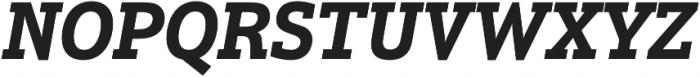Justus Pro Bold Italic otf (700) Font UPPERCASE