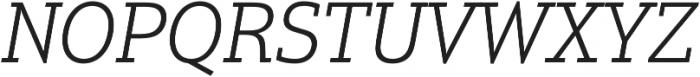 Justus Pro Light Italic otf (300) Font UPPERCASE