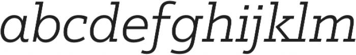 Justus Pro Light Italic otf (300) Font LOWERCASE