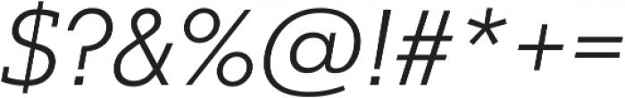 Justus Pro Light Italic ttf (300) Font OTHER CHARS