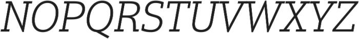 Justus Pro Light Italic ttf (300) Font UPPERCASE