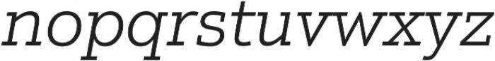 Justus Pro Light Italic ttf (300) Font LOWERCASE