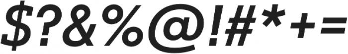Justus Pro Medium Italic otf (500) Font OTHER CHARS
