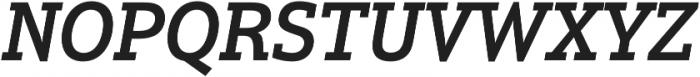 Justus Pro Medium Italic otf (500) Font UPPERCASE