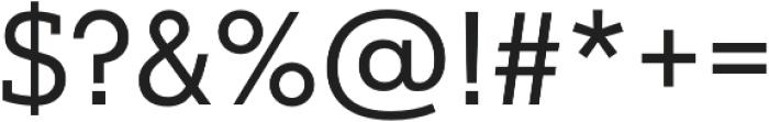 Justus Pro Regular otf (400) Font OTHER CHARS