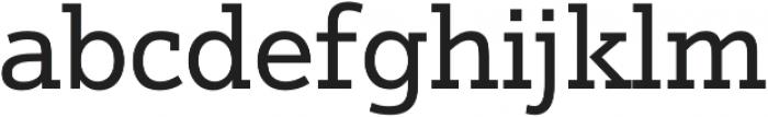 Justus Pro Regular otf (400) Font LOWERCASE