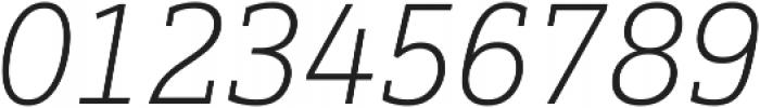 Justus Pro Thin Italic ttf (100) Font OTHER CHARS