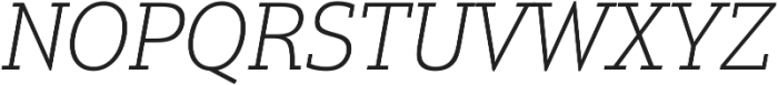 Justus Pro Thin Italic ttf (100) Font UPPERCASE