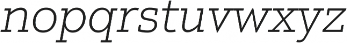 Justus Pro Thin Italic ttf (100) Font LOWERCASE