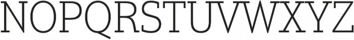 Justus Pro Thin otf (100) Font UPPERCASE