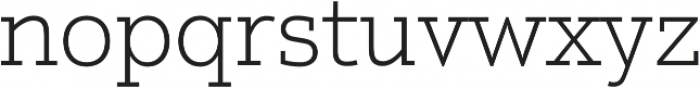 Justus Pro Thin otf (100) Font LOWERCASE