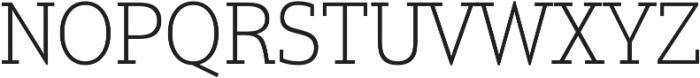 Justus Pro Thin ttf (100) Font UPPERCASE
