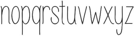 Juvenile otf (400) Font LOWERCASE