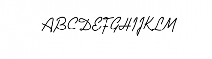 JulianaKasman-Script.ttf Font UPPERCASE