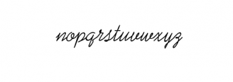 JulianaKasman-Script.ttf Font LOWERCASE