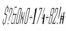 Julienne Slim Light Italic Font OTHER CHARS