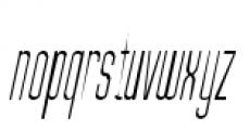 Julienne Slim Light Italic Font LOWERCASE