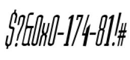Julienne Slim Plain Italic Font OTHER CHARS