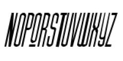 Julienne Slim Plain Italic Font UPPERCASE