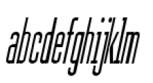 Julienne Slim Plain Italic Font LOWERCASE