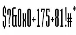 Julienne Slim Plain Font OTHER CHARS