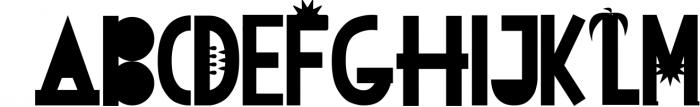 JUNE DAYS OpenType SVG otf Font Font UPPERCASE