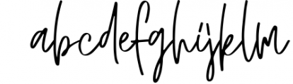 JUSTER SCRIPT Font LOWERCASE