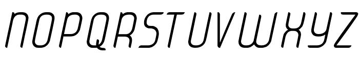 JUICE Light Italic Italic Font UPPERCASE